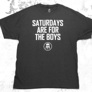 Saturday's are for the boys men's t shirt